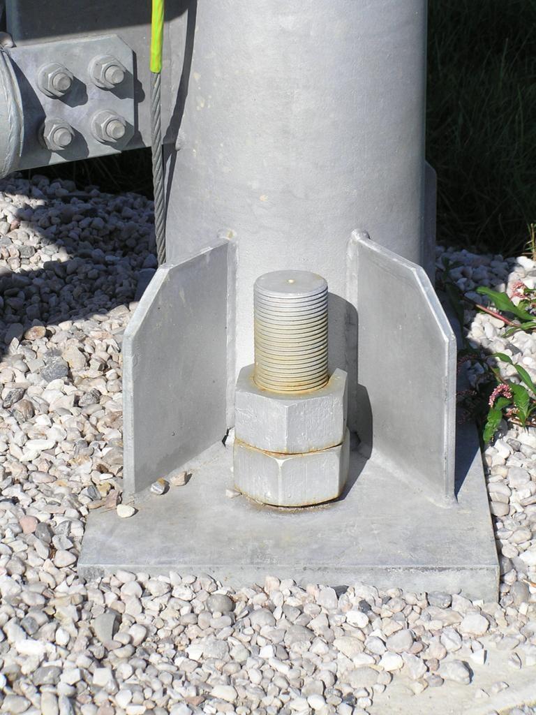 Detail kotvení pylonu